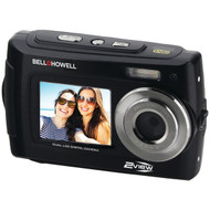 BELL+HOWELL 2VIEW18-BK 2VIEW18 Dual-Screen Waterproof HD Camera (Black) (R-ELB2VIEW18BK)