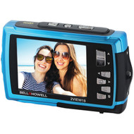 BELL+HOWELL 2VIEW18-BL 2VIEW18 Dual-Screen Waterproof HD Camera (Blue) (R-ELB2VIEW18BL)
