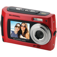BELL+HOWELL 2VIEW18-R 2VIEW18 Dual-Screen Waterproof HD Camera (Red) (R-ELB2VIEW18R)
