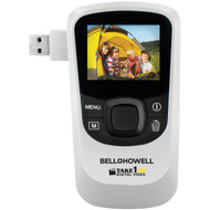 BELL+HOWELL T10HD-W 5.0-Megapixel 1080p Take1HD Digital Video Camcorder with Flip-out USB (White) (R-ELBT10HDW)
