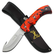 """Elk Ridge Fixed Blade Knife 8.75"""" Overall Red Forest Handle (R-ER274RC)"""