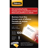 FELLOWES 52031 Business Card Laminating Pouches, 100 pk (R-FLW52031)