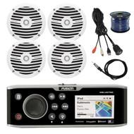 "Fusion Marine CD/DVD Stereo, 4x 6.5"" Speakers,50Ft Wire,Antenna,USB Aux Mount (R-FUSMSAV750-BAYBOAT)"