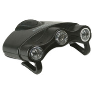 CYCLOPS CYC-HC1-W ORION Hat Clip Light with 3 Clear LED Lights (R-GSMCYCHC1W)