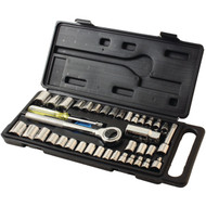 HB SMITH TOOLS 79940 40-Piece Drop-Forged Socket Set (R-HBCL79940)