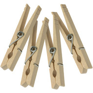 HONEY-CAN-DO DRY-01375 Wood Clothespins with Spring, 50 pk (R-HCDDRY-01375)