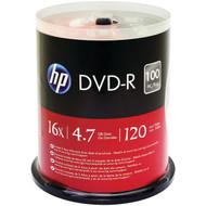 HP DM16100CB 4.7GB DVD-Rs, 100-ct Spindle (R-HOODM16100CB)
