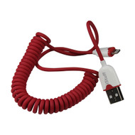 iStuff Micro USB to Apple Lightning Coil Cable (R-ICCLCRD5)