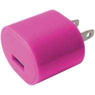 IESSENTIALS IE-AC1USB-PK 1-Amp USB Wall Charger (Pink) (R-IEAC1USBPK)