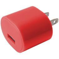 IESSENTIALS IE-AC1USB-RD 1-Amp USB Wall Charger (Red) (R-IEAC1USBRD)