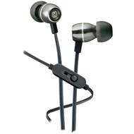 IHOME iB18G Noise-Isolating Metal Earbuds with Microphone (Gunmetal) (R-IHMIB18G)
