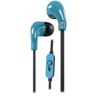 IHOME iB26LC Noise-Isolating Earbuds with Microphone (Blue) (R-IHMIB26LC)