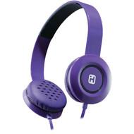 IHOME iB35UBC Stereo Headphones with Flat Cable (Purple) (R-IHMIB35UBC)
