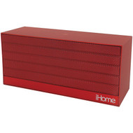 IHOME iBN27RX Bluetooth(R) Rechargeable Stereo Mini Speaker with NFC (Red) (R-IHMIBN27RX)