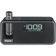 IHOME IKN105BC Dual-Charging Bluetooth(R) Stereo Alarm Clock Radio/Speakerphone with NFC & Removable Power (Black) (R-IHMIKN105BC)