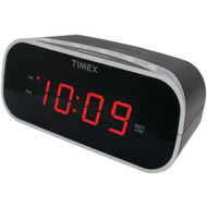 "TIMEX T121B Alarm Clock with .7"" Red Display (Black) (R-IHMT121B)"