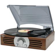 JENSEN JTA-222 3-Speed Stereo Turntable with AM/FM Stereo Radio (R-JENJTA222)