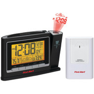 FIRST ALERT SFA2800 Radio-Controlled Weather Station Projection Clock Radio with Wireless Sensor (R-JENSFA2800)