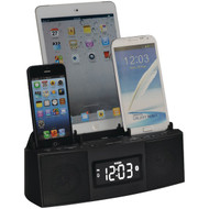DOK CR28 3-Port Smartphone Charger with Speakerphone & Alarm Clock (R-JSKCR28)
