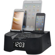 DOK CR68 6-Port Smartphone Charger with Bluetooth(R) & Alarm Clock (R-JSKCR68)