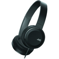 JVC HAS190MB Colorful On-Ear Headphones (Black) (R-JVCHAS190MB)