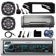 """Stereo, 2X 5.25"""" Speakers, Cover, Handlebar Control, Dash Kit, Antenna,50ft Wire (R-KMRD768BT-10PS52504)"""