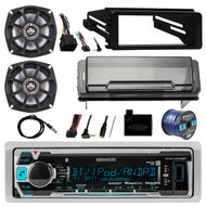 """Receiver,2X 5.25"""" Speakers,Cover,Handlebar Interface,Dash Kit,Antenna, 50ft Wire (R-KMRM318BT-10PS52504)"""