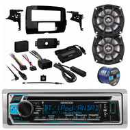 """Kenwood Bluetooth CD AM/FM Marine Stereo, 2x 5.25"""" Speakers, Dash Kit, Wire (R-KMRM368BT-1-10PS5250)"""