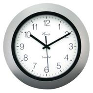 """EQUITY BY LA CROSSE 40222S 10"""" Silver Insta-Set Wall Clock (R-LCR40222S)"""