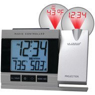 LA CROSSE TECHNOLOGY WT-5220U-IT-CBP Atomic Projection Alarm Clock with Indoor & Outdoor Temperature (R-LCR5220UITCBP)