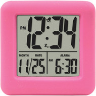 EQUITY BY LA CROSSE 70902 Soft Cube LCD Alarm Clock (Pink) (R-LCR70902)