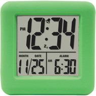 EQUITY BY LA CROSSE 70903 Soft Cube LCD Alarm Clock (Green) (R-LCR70903)