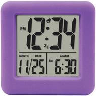 EQUITY BY LA CROSSE 70904 Soft Cube LCD Alarm Clock (Purple) (R-LCR70904)