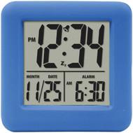 EQUITY BY LA CROSSE 70905 Soft Cube LCD Alarm Clock (Blue) (R-LCR70905)