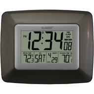 LA CROSSE TECHNOLOGY WS-8119U-IT-CHO Atomic Digital Clock with Indoor/Outdoor Temperature (Black) (R-LCRWS8119ITCHO)