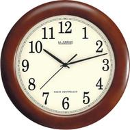"LA CROSSE TECHNOLOGY WT-3122A 12.5"" Walnut Atomic Wall Clock (R-LCRWT3122A)"