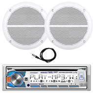 "New Dual Marine Digital Media Receiver with Bluetooth, W/ Pair of 6.5"" Speakers (R-MCP136BT)"