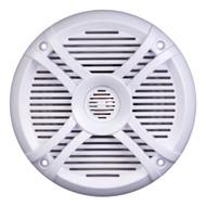 "Power Acoustik Marine 6.5"" Speakers (pair) 2 way White & Titanium Grills (R-MF65WT)"