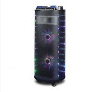 "Maxpower 10"" X 2 Dj Speaker System With Dancing Lights Bluetooth Usb/Sd/Fm (R-MPD1002M)"
