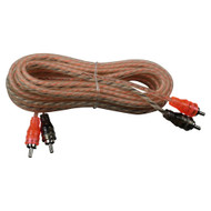 Max Power entry rca cable 12ft orange/black (R-MPRCA12OB)
