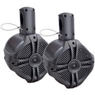 "Power Acoustik Marine 8"" Wake Tower Speaker Titanium (Pair) (R-MWT80T)"