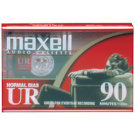 MAXELL 108510 Normal-Bias Cassette Tapes (Single) (R-MXLUR90)