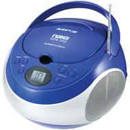 NAXA NPB252BL Portable CD/MP3 Players with AM/FM Stereo (Blue) (R-NAXNPB252BL)