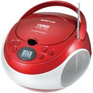 NAXA NPB252RD Portable CD/MP3 Players with AM/FM Stereo (Red) (R-NAXNPB252RD)