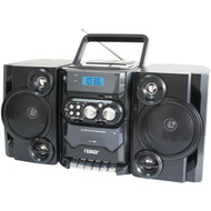 NAXA NPB428 Portable CD/MP3 Player with AM/FM Radio, Detachable Speakers, Remote & USB Input (R-NAXNPB428)