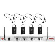 NADY 401X Quad LT/HM-3 CH. A/B/D/N 401X QUAD Wireless System (R-NDY401XQDLTHM3)