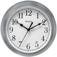 "WESTCLOX 46984A 9"" Decorative Wall Clock (Gray) (R-NYL46984A)"