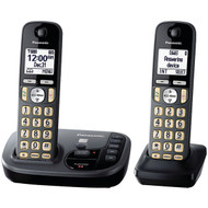 PANASONIC KX-TGD222M Expandable Cordless Phone System with Talking Caller ID (2-handset system) (R-PANKXTGD222M)