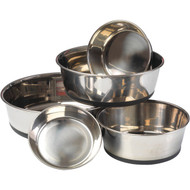 House of Paws HP609S Stainless Steel Dog Bowl with Silicon Base (S) (R-PAWHP609S)