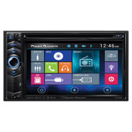 "Power Acoustik Double din AM/FM/DVD/BT 6.2"" moblile link X1 (R-PD624HB)"